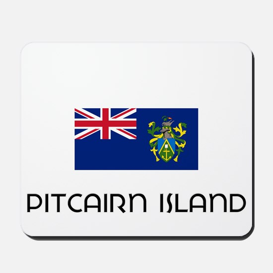 I HEART PITCAIRN ISLAND FLAG Mousepad