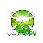 Yakhappy Green Sticker