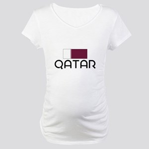 I HEART QATAR FLAG Maternity T-Shirt