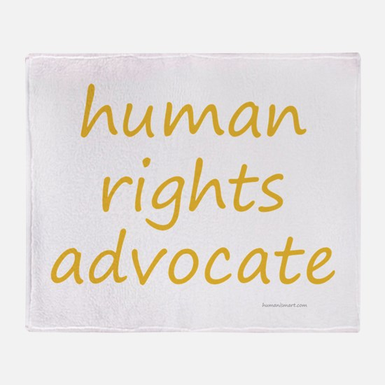 human rights advocate Throw Blanket
