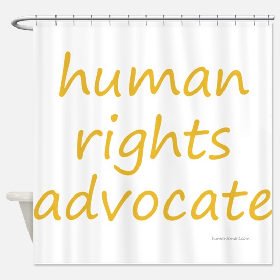 human rights advocate Shower Curtain