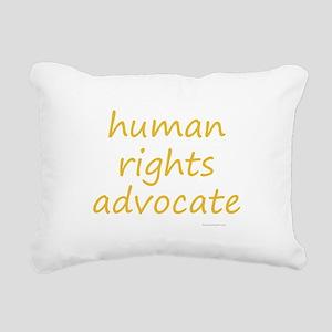 human rights advocate Rectangular Canvas Pillow