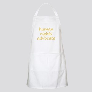 human rights advocate Apron