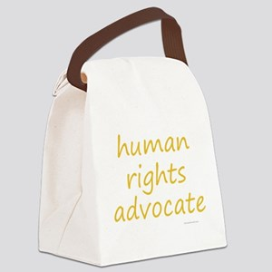 human rights advocate Canvas Lunch Bag