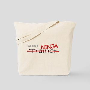 Job Ninja Trainer Tote Bag