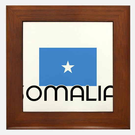 I HEART SOMALIA FLAG Framed Tile