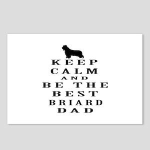Keep Calm Briard Designs Postcards (Package of 8)