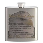 My USA, United States of America Flask