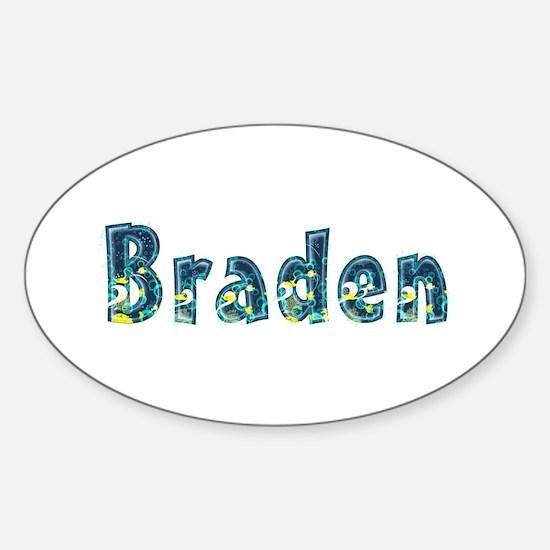 Braden Under Sea Oval Decal