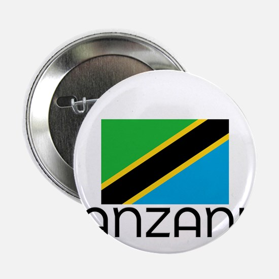 """I HEART TANZANIA FLAG 2.25"""" Button"""