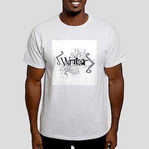 Grunge Writer Ash Grey T-Shirt