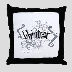 Grunge Writer Throw Pillow