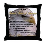My USA, United States of America Throw Pillow