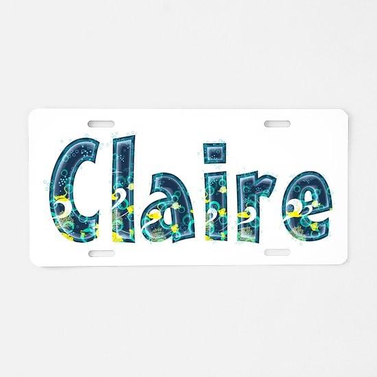 Claire Under Sea Aluminum License Plate
