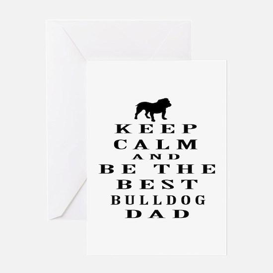 Keep Calm Bulldog Designs Greeting Card