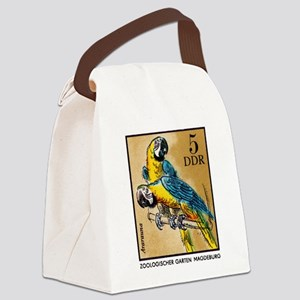 1975 Germany Zoo Macaw Parrot Postage Stamp Canvas