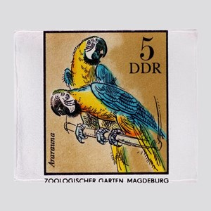 1975 Germany Zoo Macaw Parrot Postage Stamp Throw