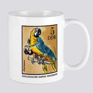 1975 Germany Zoo Macaw Parrot Postage Stamp Mug