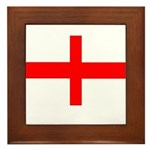 England St George Framed Tile