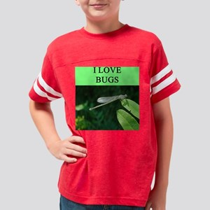 funny i love bugs joke Youth Football Shirt