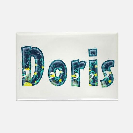 Doris Under Sea Rectangle Magnet