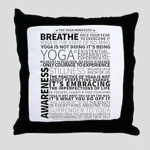 Yoga Manifesto Poster by United Yogis Throw Pillow