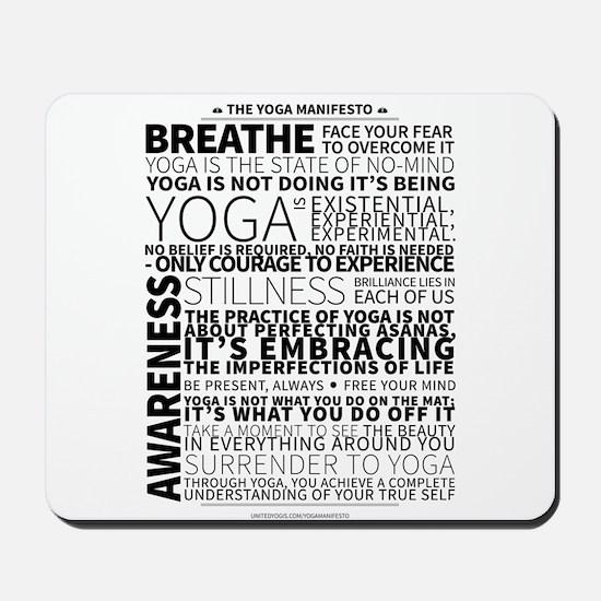 Yoga Manifesto Poster by United Yogis Mousepad