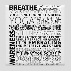 Yoga Manifesto Poster by United Yogis Tile Coaster