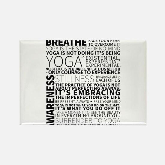Yoga Manifesto Poster by United Yogis Rectangle Ma