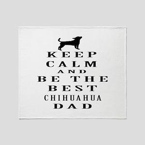 Keep Calm Chihuahua Designs Throw Blanket