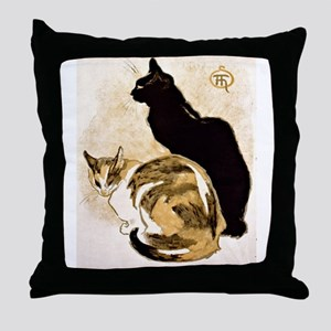 Steinlen Cats Throw Pillow