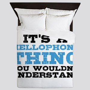It's a Mellophone Thing Queen Duvet