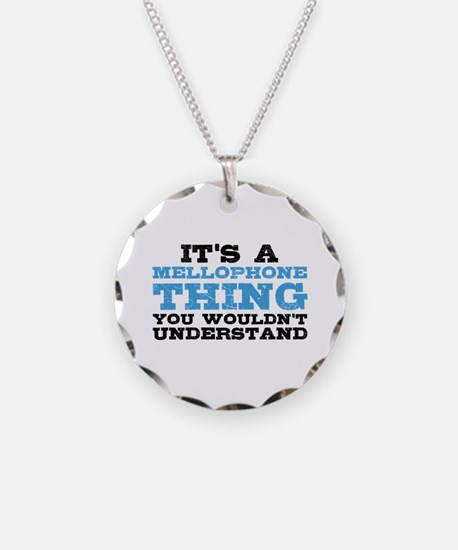 It's a Mellophone Thing Necklace Circle Charm
