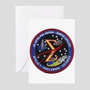 Space Flight Memorial Greeting Cards (Pk of 20)
