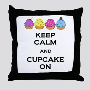 Cupcake On Throw Pillow