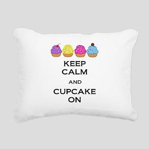 Cupcake On Rectangular Canvas Pillow
