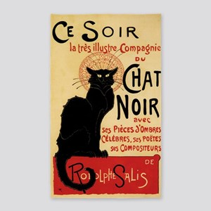 Chat Noir 3'x5' Area Rug