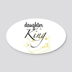Daughter of a King Oval Car Magnet