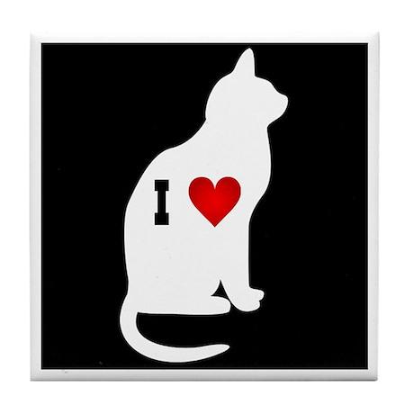 I love Cats :3 Tile Coaster