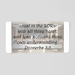 Proverbs 3:5 Aluminum License Plate