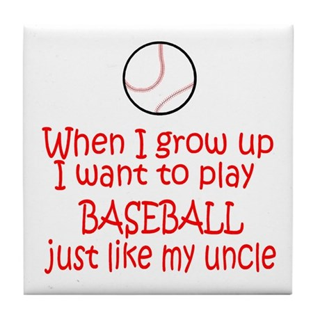 Baseball...just like Uncle Tile Coaster