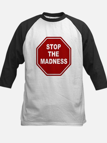 Stop The Madness Kids Baseball Jersey