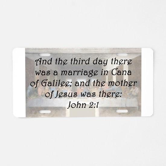 John 2:1 Aluminum License Plate