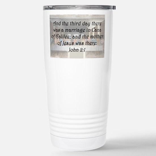 John 2:1 Travel Mug