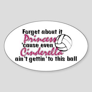 Volleyball Princess Sticker (Oval)