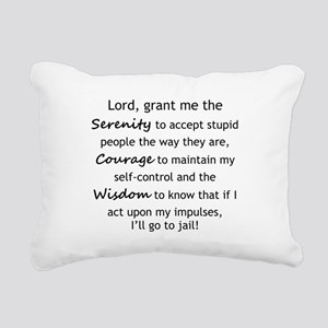 Sarcastic Serenity Prayer 02 Rectangular Canvas Pi