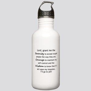 Sarcastic Serenity Prayer 02 Water Bottle
