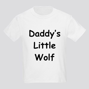 Daddy's Little Wolf Kids T-Shirt