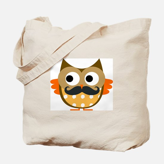 Mustachioed Owl Tote Bag
