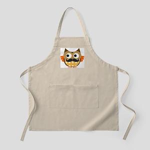 Mustachioed Owl Apron